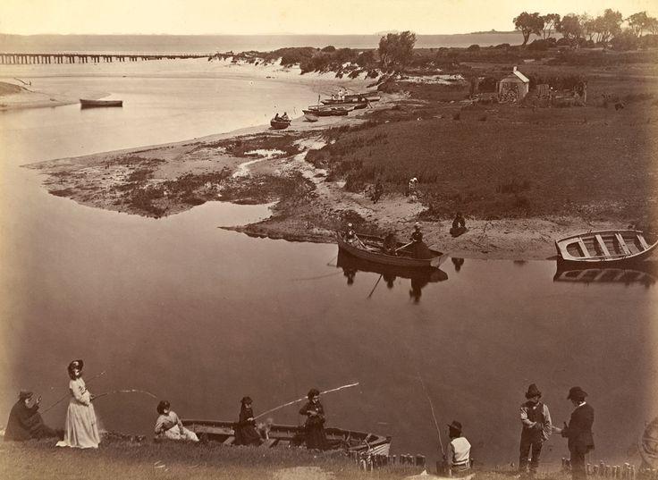Fred Kruger  born Germany 1831, arrived Australia 1860, died 1888  Coast scene, Mordialloc Creek, near Cheltenham  c.1871