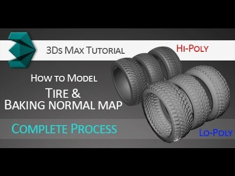 3Ds Max tutorial: Modeling tires and baking normal map for low-poly version