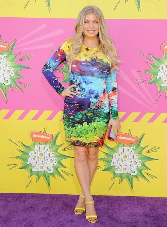 Fergie looked absolutely radiant at the Kid's Choice awards carrying the Swarovski vibrant multi-color Power bag. Pick yours up today by following the link here www.swarovski.com/1185539/product/Power_Multicolor_Bag?BannerID=8003020.6