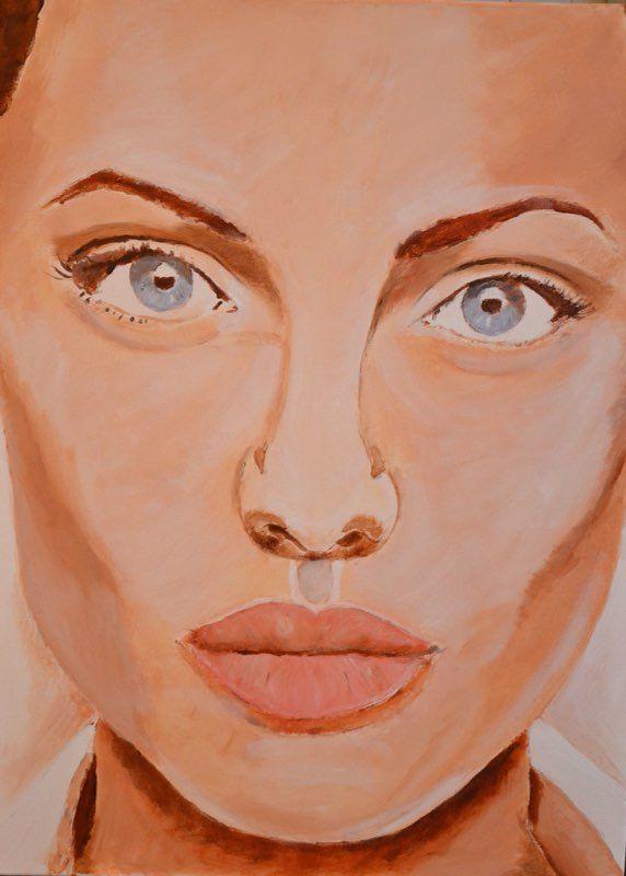 Mariska Sens. Angelina. het sprekende gezicht van Angelina Jolie met haar bijzondere lippen.