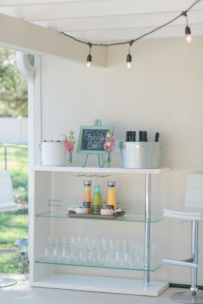 Bubbly bar: http://www.stylemepretty.com/living/2015/04/21/a-southern-backyard-brunch/ | Photography: Jessica Bordner - http://www.jessicabordner.com/