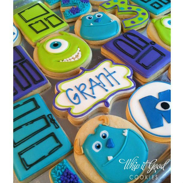 decorated monster inc sugar cookies | Monsters, Inc