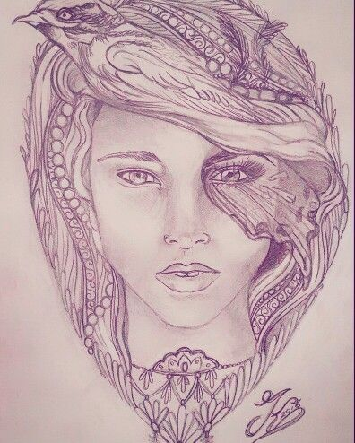 Woman tattoo design by kristel peters/ kersjemecherry
