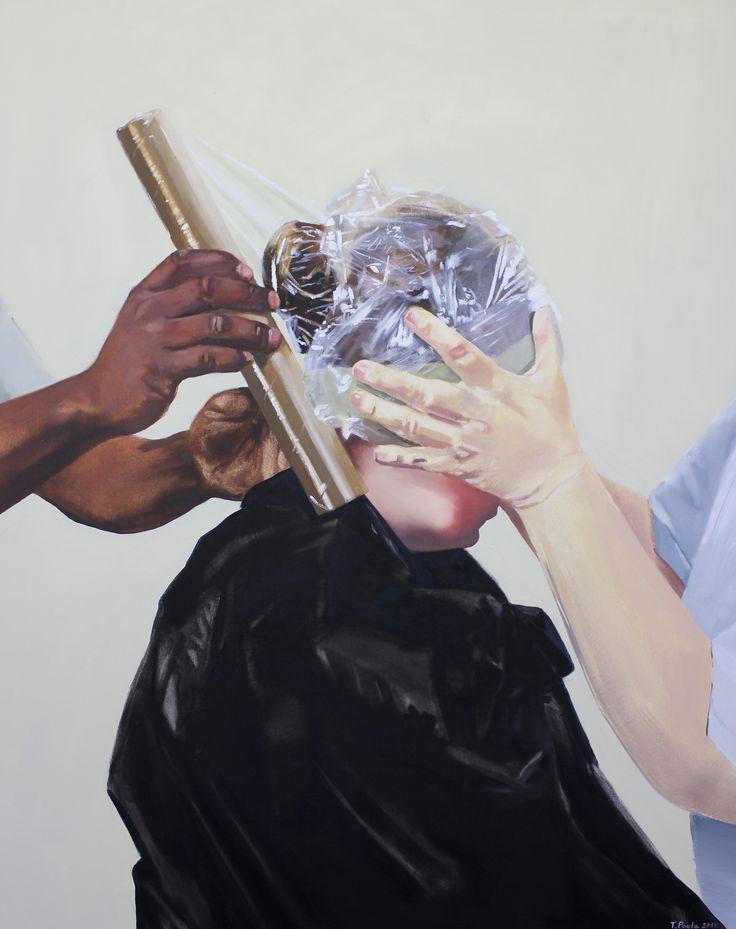 """Tanya Poole """"Cling-wrap"""" 2012"""