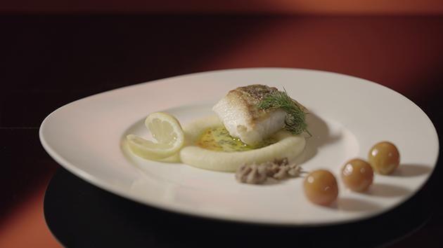 Рыба с пюре элегантным манером