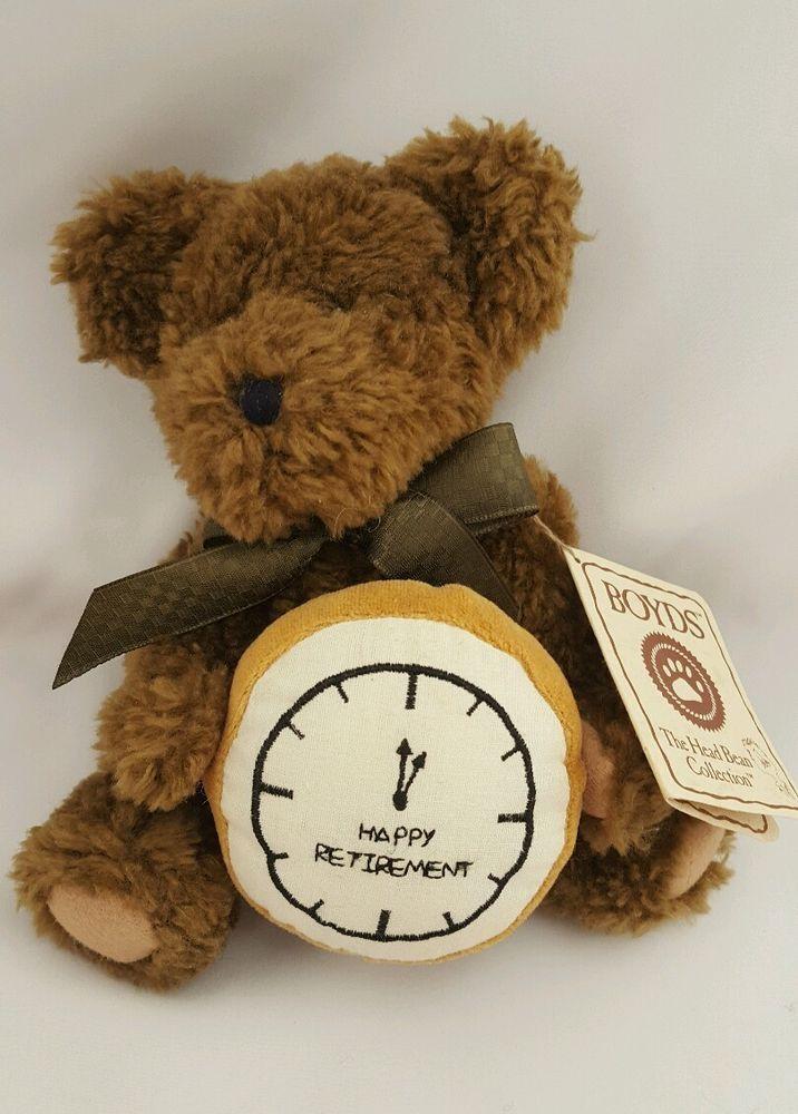 Boyds Bear Max Relax Happy Retirement Clock 903041 with Tag EUC Free Ship  | eBay