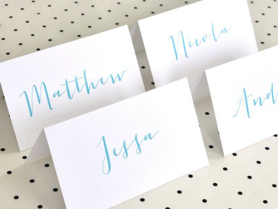 Personalized Printable Place Cards Placecards by FalmariPaperCo