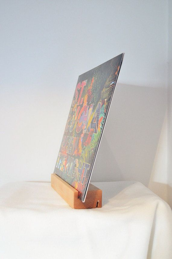 Now Playing Vinyl Record Display Stand by BlackAntler on Etsy