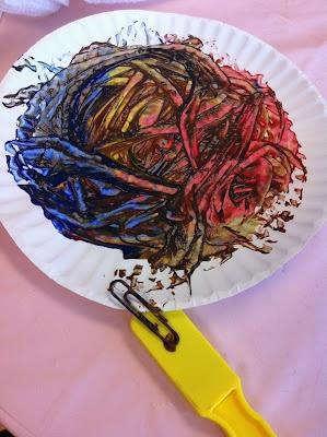 magnetic paintingIdeas, Magnets Painting, Colors Mixed, Rockabye Butterflies, Blends Colors, Kids, Fun, Rockabi Butterflies, Art Projects