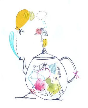 ça fume et quand je siffle, c'est que c'est prêt http://leschosettes.canalblog.com/ #teapot #bird