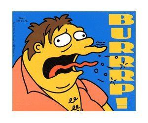 The Simpsons TV Show Sticker - Barney Burping