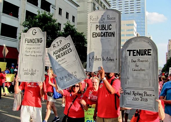 Pay Our Teachers or Lose Your Job. North Carolina is pushing its best educators out. We have to do something.