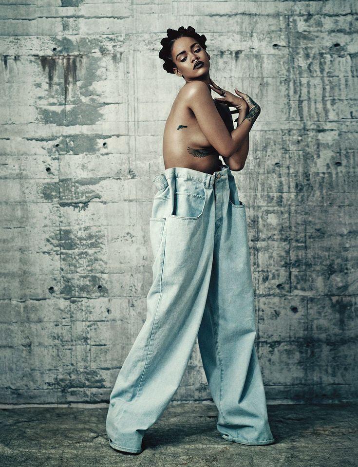 Rihanna vem de total denim para edição especial da i-D - Blog - Guia JeansWear : O Portal do Jeans