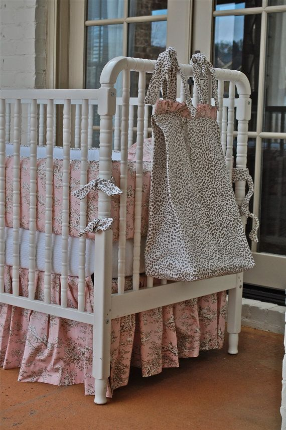 Neapolitan Diaper Stacker - Cheetah and Pink Toile by BBabiesBiz on Etsy, $55.00