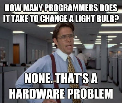 Geek Humor | Hardware Problem  Funny Technology - Community - Google+ via Monika Schmidt #progammers #geek_humor #funny