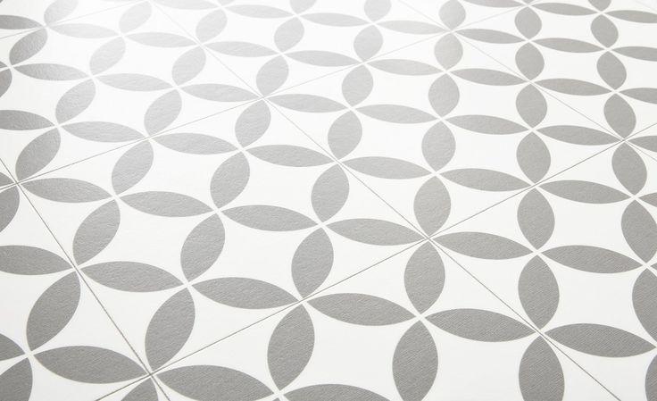 Sol vinyle BUBBLEGUM, carreau ciment gris, rouleau 2 m - Sol Vinyle - Collection Sol - saint maclou, 8 euros en promo le m²
