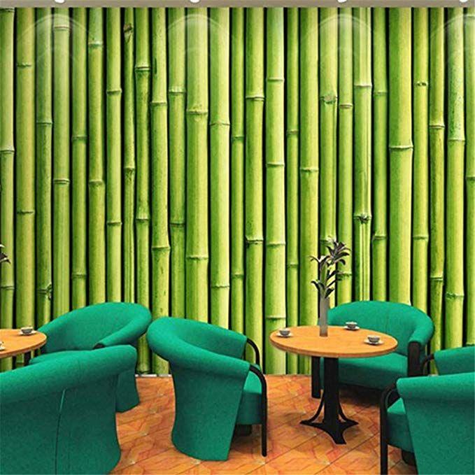 Pbldb 3d Bamboo Green Large Wall Painting Wallpaper Dining Room Living Room Background Wall Wallpaper Home Decor Wall Paper Roll 150x120cm Minimalistische Wohnzimmer Innenarchitektur Wohnzimmer Und Bambus Tapete