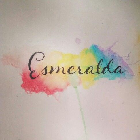 Acuarela nombre watercolor name color colorfull for Name tattoos with color