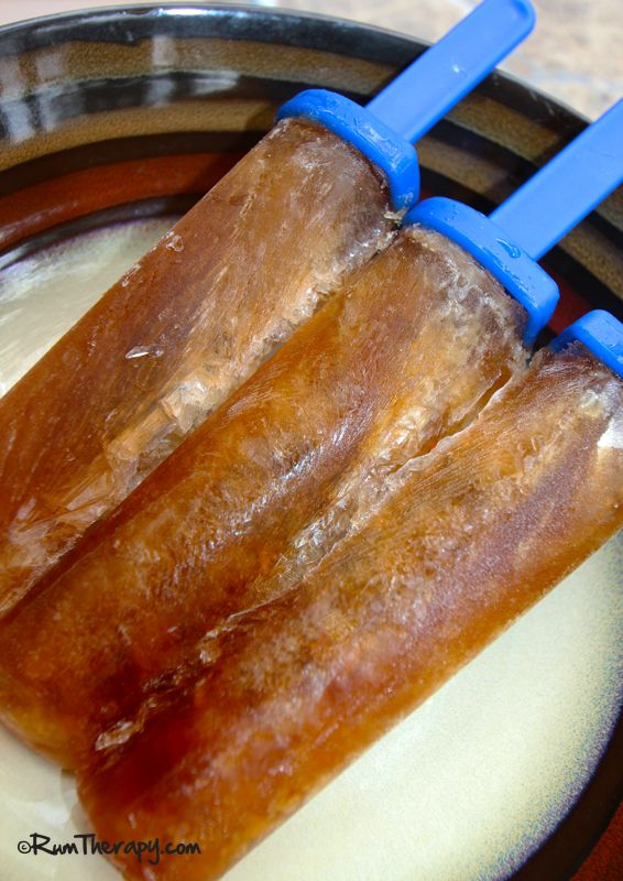 Dirty Pirate Popsicles - Captain Morgan and Kahlua