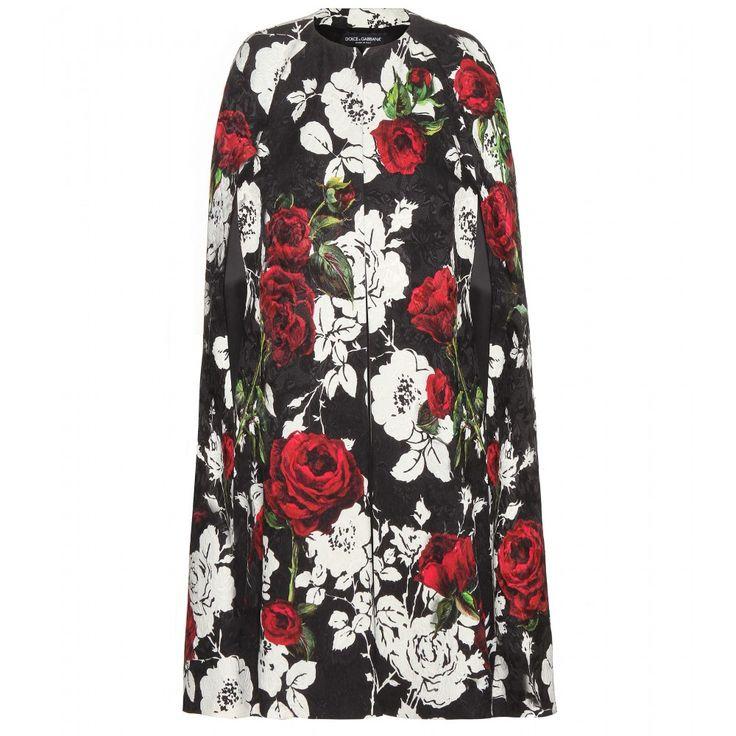 Dolce & Gabbana - Printed brocade cape coat - mytheresa.com