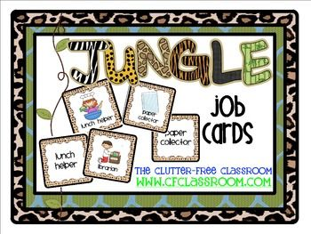 JOB CHART FOR A JUNGLE ~ SAFARI CLASSROOM THEME - TeachersPayTeachers.com