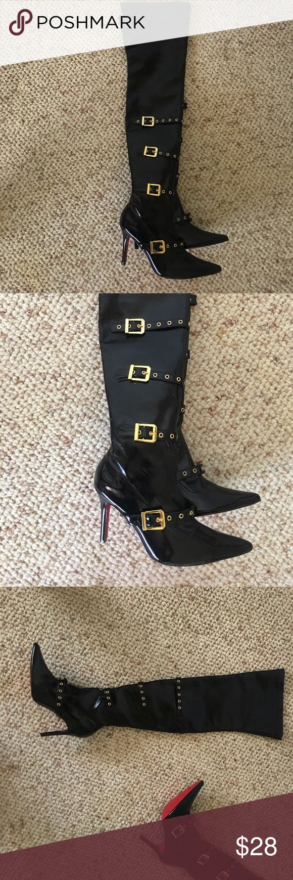 Colin Stuart Knee Boots Sexy Colin Stuart Patent leather black boots excellent condition size 7 Very fun... Colin Stuart Shoes Over the Knee Boots