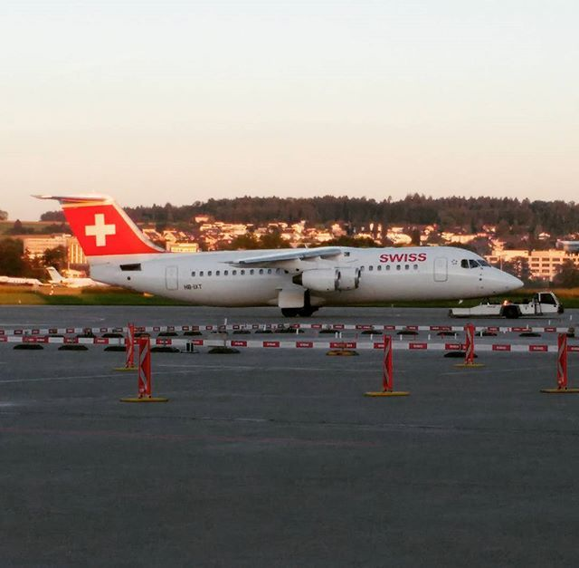 A new day rising! #swiss #zurichairport