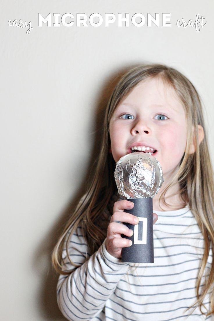 DIY Kids Microphone Craft #InspireBigDreams #ad