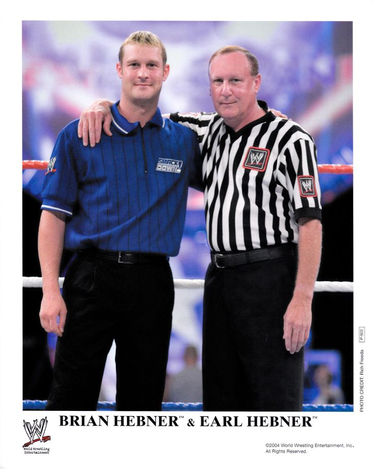 Refereee Earl Hebner & his son referee Brian Hebner