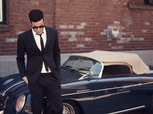 GQ.: Grooms Outfits, Vintage Cars, Skinny Ties, Future Boyfriends, Fast Cars, Black Suits, Old Cars, 60S Style, Porsche 356
