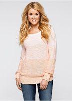 Pulover, mâneci lungi din tricotaj deosebit (bonprix)