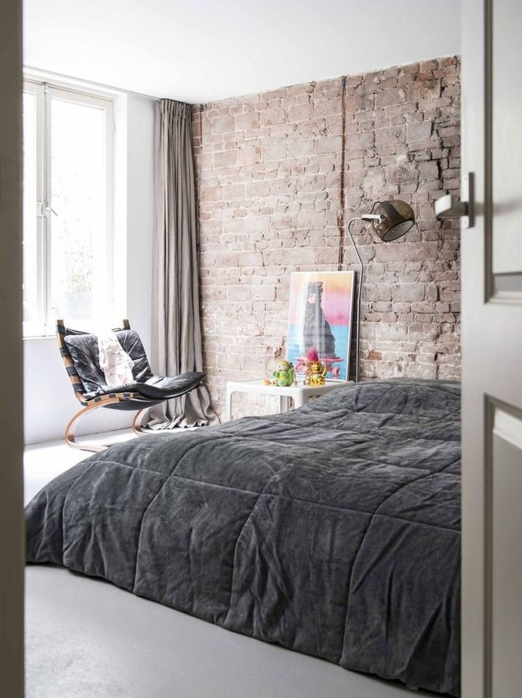 industrial bedroom furniture melbourne%0A Industrial Bedroom  Industrial Loft  Home Bedroom  Design Bedroom  Brick  Walls  Beautiful Bedrooms  Architecture Interior Design  Sweet Dreams