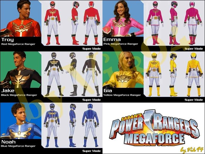 Power Rangers Megaforce by vik94