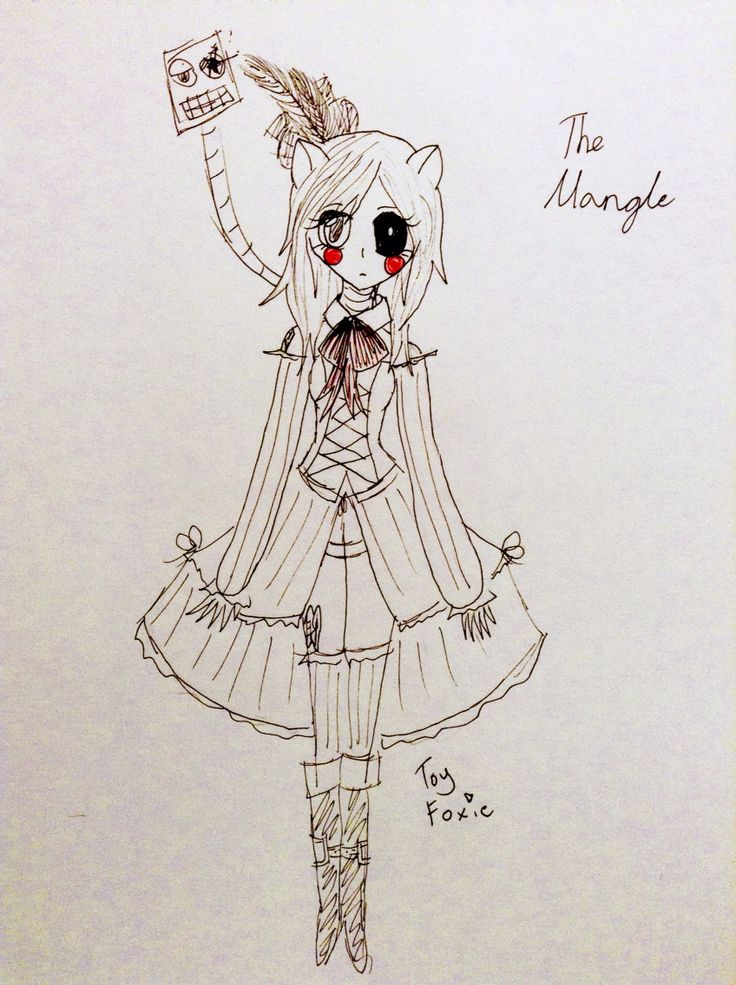 I drew my version of the mangle  I was going for an olden days show girl kind of look  Hope you like it!  By Miss-Marionette