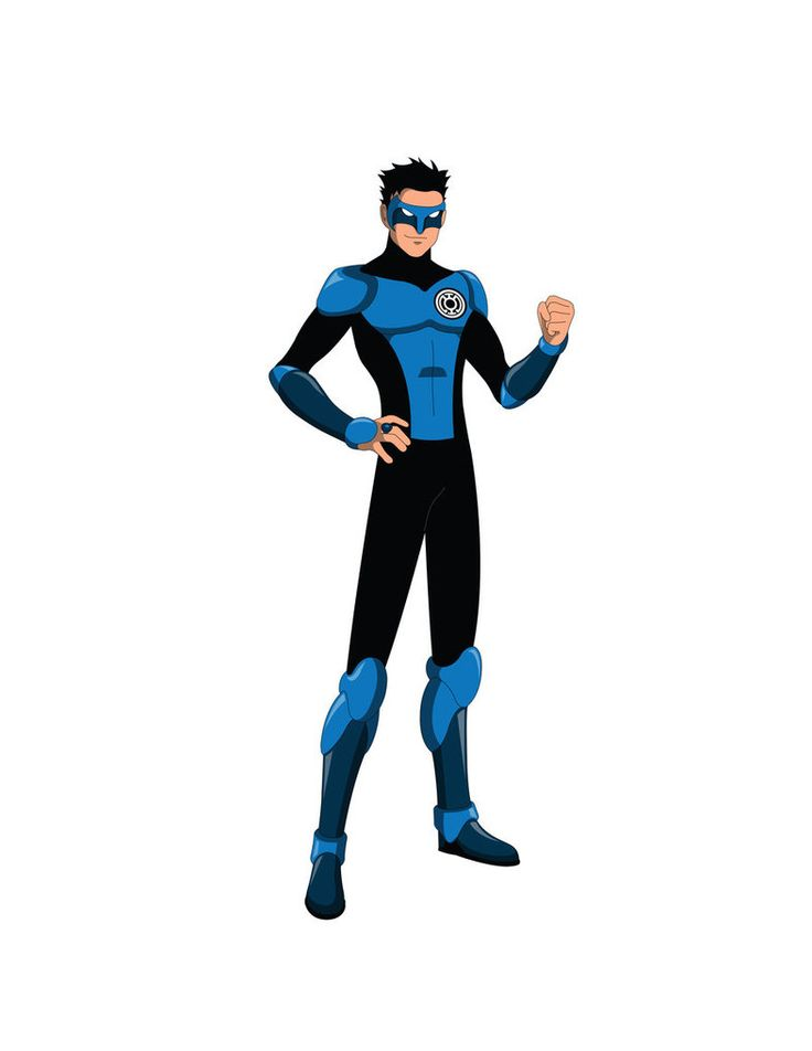 Young Justice TV - Kyle Rayner Blue Lantern by Jarein on DeviantArt
