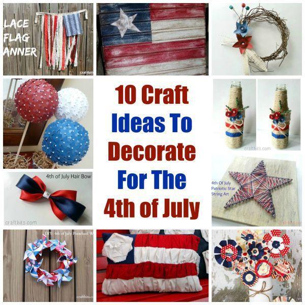 4th of july yarn crafts