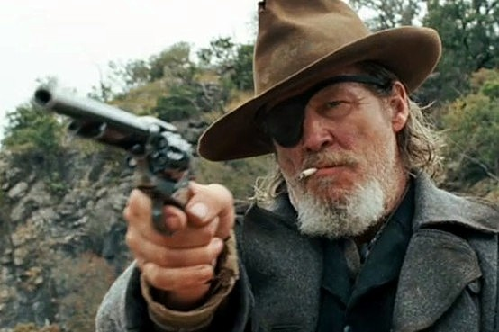 Jeff Bridges as Rooster Cogburn in True Grit