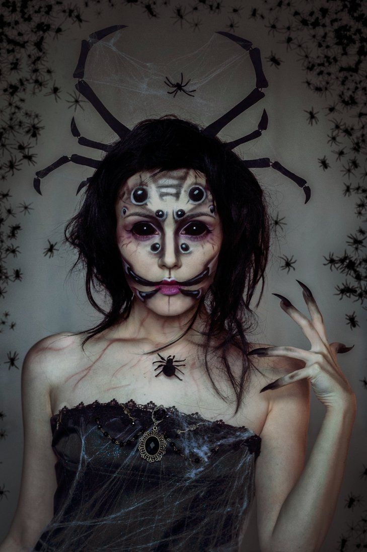 queen of spiders makeup by helen stifler on deviantart - Quick Scary Halloween Costumes