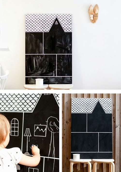 mommo design: CHALKBOARD CRAFTS - dollhouse: