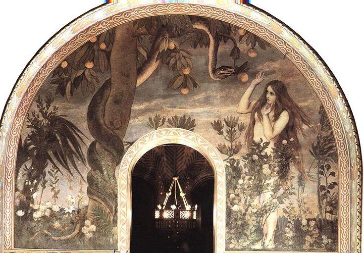 Viktor M. Vasnetsov (1848–1926) 1885-1896. Vladimir cathedral frsco Russian Museum The Temptation