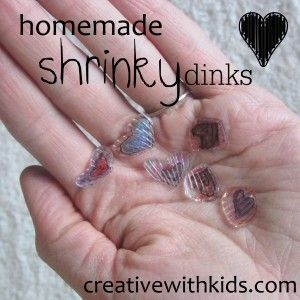 So fun! Make shrinky dinks out of plastic from the recycle bin!