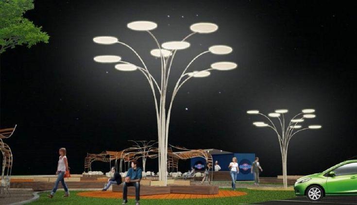 Postes com painéis solares iluminam e fornecem energia - Arcoweb