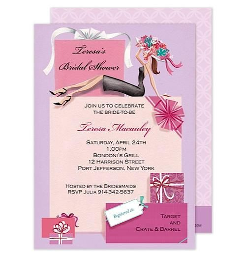 Shower the gorgeous Bride-to-be with gifts galore and this fabulous bridal shower invitation. This stylish design is expertly printed on luxurious heavyweight paper. Blank envelopes included. A portion of the proceeds from the sale of this product will be donated to breast cancer research and education.