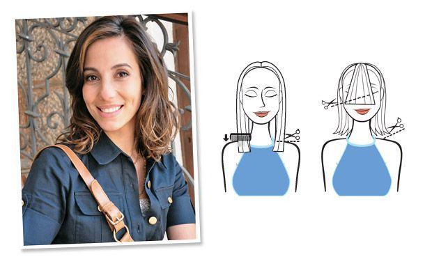 Tania Khallil· Dá movimento aos lisos e ondulados  Estilo: Chanel médio, com as pontas desfiadas.  Base: Corte reto, na altura dos ombros.  ...