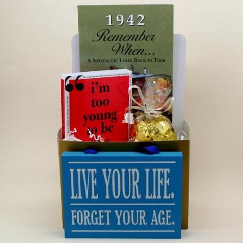 Remember This For My Dads Birthdya Year1942 Golden Years Gift Basket