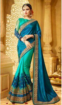 Green Color Silk Embroidery Designer Saree | FH583986208 Follow us @heenastyle #saree #sari #sarees #sareelove #sareeindia #indiansaree #designersaree #sareeday #silksaree #lehengasaree #designersarees #sareesilk #weddingsaree #sareeblouse #sareefashion #ethnicwear #georgette #partywear #latestfashion #latestdesign #newfashionsaree #newdesigsaree #goldenbordersaree #instafashion #designersaris #heenastylesaree #heenastyle