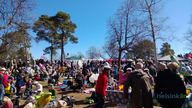 picnic and white caps everywhere @Vappu Kärkkäinen 2013