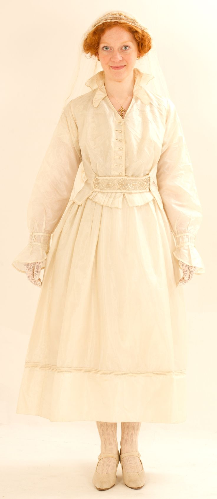 Ww wedding dress c silk taffeta with cording