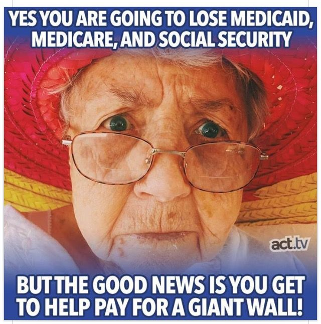 """For all the Stupid Trump Cult/Republican Voters who are Baby Boomers or have Aging Parents who can't survive without Medicare...or the Millions of Trump Ignorant Voters who are just getting by and use Medicaid and Food Stamps, I hope the Rotten Republican Congress you voted back in power takes you to the cleaners!!! You deserve to be """"Kicked In The Ass"""" for voting for Trump and our Criminal GOP Congress!!"""