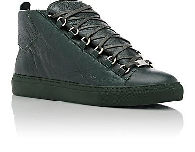 Balenciaga Men's Arena Leather Sneakers - Sneakers - 504367867